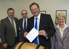 "Stephen Mosley MP delivers 'Message in a Barrel' to freeze Beer Duty • <a style=""font-size:0.8em;"" href=""http://www.flickr.com/photos/51035458@N07/8514977931/"" target=""_blank"">View on Flickr</a>"