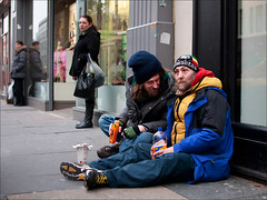 """I think he's takin' our picture ..."" (Charles Hamilton Photography) Tags: street city people 35mm glasgow homeless citylife streetphotography characters february begging argylestreet urbanscene characterstudy glasgowstreetscene nikond90 glasgowstreetphotography glasgowcharacters"