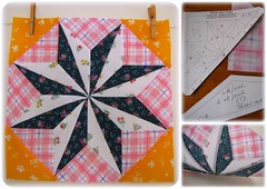 "Stars - ""Silver and Gold"" block (Patchwork Daily Desire) Tags: stars quilt crafts quilting quilted blocks quilts scraps batting binding patchworkdailydesire"