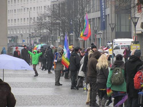 Menschenkette gegen rechts in Dessau!
