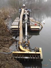 Amphibious truxor with cutter suction dredger (DanHoare) Tags: pumping mar12 truxor