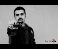 Ch Sahab (WaQas Munir) Tags: white black portraits 50mm gun shoot d90