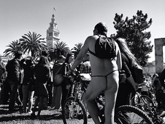 Pedal Power (teamsnake.photography) Tags: sanfrancisco street blackandwhite monochrome bicycle protest streetphotography photojournalism documentary vaillancourtfountain mobilephotography iphoneography teamsnakephotography uploaded:by=flickrmobile flickriosapp:filter=nofilter