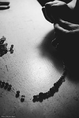 process. [teaser 2] (Mark McD Photos) Tags: blackandwhite bw monochrome hands artist dof pentax takumar bokeh sony depthoffield textile shallow process smc narrow teaser 5014 nex nex5 markmcdphotos