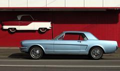 Mustang and Metropolitan (Slideshow Bruce) Tags: classic ford car oregon diner 1966 springfield mustang nash addis metropolitan