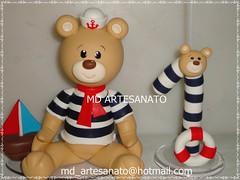 Topo de Bolo Urso Marinheiro (Márcia Reis MD Artesanato) Tags: topo de bolo urso marinheiro topodebolo