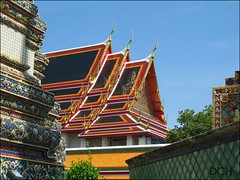 Here, Rooftops Glitter With Gold (suavehouse113) Tags: thailand temple gold rooftops bangkok wat watpho philscamera finial glittering templeoftherecliningbuddha vihara watphrachetuphon viharn chofa wihan phramahachedisirajakarn