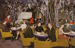 Purple Tree Lounge Rochester New York (1950sUnlimited) Tags: travel ny fun bars sightseeing restaurants leisure 1960s vacations inns midcentury lobbies lounges postcardes