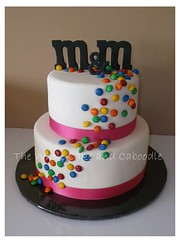 M & M & M & M... (The Whole Cake and Caboodle ( lisa )) Tags: pink wedding cakes cake candy chocolate michelle mm caboodle