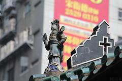 Figurine atop Tin Hau Temple (Canadian Pacific) Tags: old ceramic temple hongkong pottery figurine  kowloon  tinhau yaumatei  aimg8964