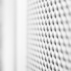 albescent (Michael J White (attempting to salvage photos and ) Tags: blackandwhite bw white square mdf perforated fretwork shallowdof panelling canonef50mmf14usm 500x500 latticework achromatic canoneos550d michaeljwhite achromatisim