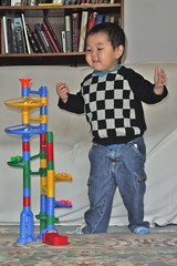 Playing with Marble Run (LugerLA) Tags: lumix voigtlander gf2 colorskopar35mmf25