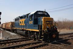 CSX GP40-2 6142 (capsfan1222) Tags: railroad train canon diesel locomotive csx generalmotors emd gp402 marionohio electromotive sigma1750 canoneos60d