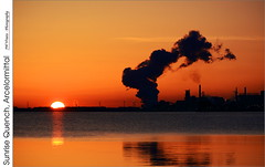 Sunrise Quench, Arcelormittal (jwvraets) Tags: sunrise dawn nikon gimp quench burlingtonbay arcelormittal d7100 nikkor55200mmvr