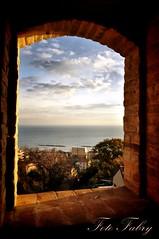 Grottammare Alta veduta verso il mare (Vitafabrizio64) Tags: panorama nikon italia mare alba finestra sole marche paese grottammare nikond5000