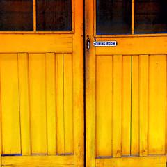where sonoma guests once dined (msdonnalee) Tags: california door yellow jaune sonoma amarillo doorway  historichotel diningroomdoor creativephotocafe