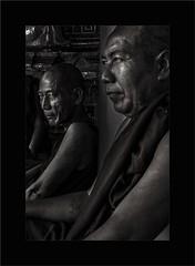 seek the light            [Burma] (paolo paccagnella) Tags: street b light shadow portrait blackandwhite bw photo eyes paolo best bn monks tatoo bianco nero biancoenero tempio monaci indocina canonefs1755mmf28isusmlens canoneos7d phpph phpphotographycom