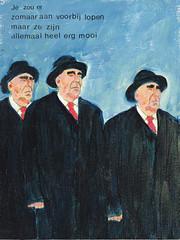 # 2225 mooi (h e r m a n) Tags: men art hat painting nice kunst schilderij suit herman mooi pak mannen hoed