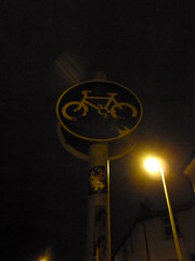 Day 94 - Cycle Path (Indiana Ray) Tags: street bike sign streetlight brighton cycle 365 day93