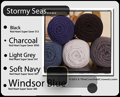 Stormy-Seas Super Saver Color Mix (The Crochet Crowd) Tags: inspiration color collage mix mikey yarn collections theme redheart ideas colorwheel blend combo divadan colorcolor supersaver thecrochetcrowd michaelsellick combitions danielzondervan crochetcrowd
