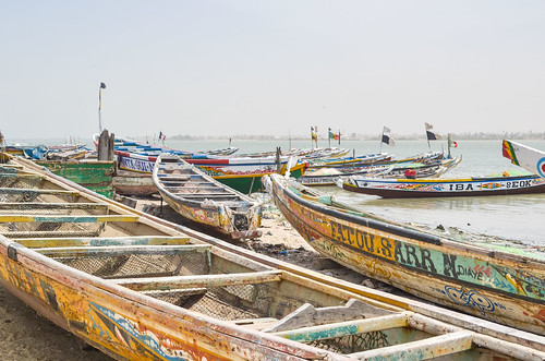 Boats in Saint Louis, Senegal