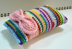 Colorful Crocheted Pincushion (Melbangel acct #2) Tags: crochet accessories pincushion needleholder pinholder melbangel pinpillow