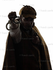 sherlock holmes holding handcuffs silhouette (Franck Camhi) Tags: shadow portrait people man male silhouette mystery cutout private person one 1 justice costume holding serious pipe fulllength police magnifyingglass suit indoors whitebackground crime mysterious studioshot sherlockholmes distrust suspicion isolated handcuffs inspector suspicious oneperson detective investigation investigating oneman mistrust lookingatcamera englishculture