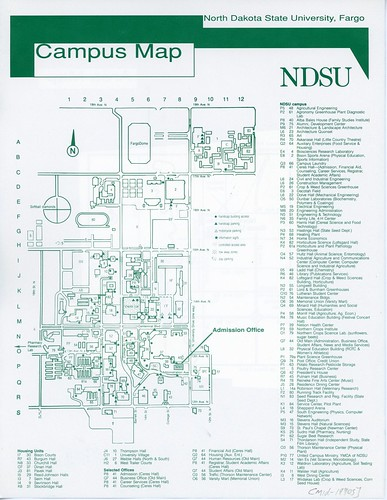 North Dakota State University campus map, circa 1990s