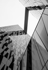 3XN. Bella Sky Hotel #5 (Ximo Michavila) Tags: shadow urban white abstract building geometric glass lines architecture copenhagen denmark grey hotel blackwhite pattern graphic perspective diagonal cph archidose 3xn archdaily bellasky archiref