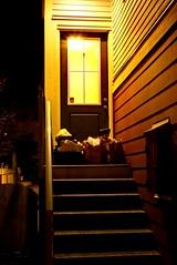 the front door (steveleenow) Tags: canada night garbage britishcolumbia surrey recycling frontdoor