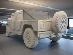 Styrofoam Hummer H1 (low mileage, always garaged) 2005 (Norman Graf) Tags: 2005 art airport artist sfo military vehicle humvee hmmwv sanfranciscointernationalairport ksfo andrewjunge highmobilitymultipurposewheeledvehicle recology styrofoamhummerh1