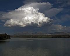 Siempre hay una nube en el horizonte  - EXPLORE  April 14th, 2013 (Micheo) Tags: cloud water agua raw paisaje pantano best reservoir explore ok nube cubillas g15 embalsedelcubillas pantanodecubillas emabalse
