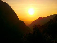 Sunset - Arbet Kozhayya - Lebanon (Hanna Khoury) Tags: travel sunset lebanon orange sun tourism nature landscape peace north calm valley pax pace  paysage libano  nord monastre calme tourisme liban paix monastry   valle