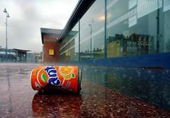 ant (Jean-Luc Lopoldi) Tags: wet rain shower gare pluie litter sidewalk soda reflets trottoir mouill averse dtritus