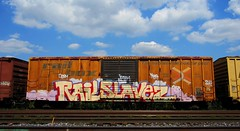 RAIL SLAVEZ '10 (YardJock) Tags: train graffiti intense near skor boxcar freight 2010 kram ceasm