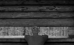 Parkhurst Forest (Clive Jones Photography) Tags: people monochrome candid hats huts isleofwight reportage blackandwhitephotography primelens nikond300 clivejones theoxonian sigmaf1450mmlens parkhurstforestisleofwight
