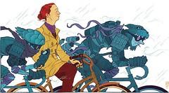 Cycling Geek Poem (inju) Tags: illustration cycling poetry poem bicycles geeks exploration zendogs peterdiamond