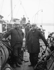 Captain and First Mate of The Hansa (National Library of Ireland on The Commons) Tags: november ireland scarf beard ship caps pipe 19thcentury sailors deck shipwreck captain moustaches ladder mast ropes waterford hansa rigging munster wrecks glassnegative 1890s 1899 firstmate nationallibraryofireland ahpoole poolecollection arthurhenripoole