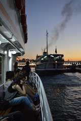 DSC_0559 (zeynepcos) Tags: istanbul sunset people eminonu karakoy galata bridge ferry ship boat smoke phone