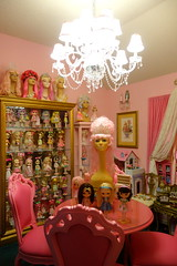 This is my happy place.... (Primrose Princess) Tags: blythe kenner doll dollcollection dollydreamland pink frenchfurniture chandelier mannequin dollhouse happyplace