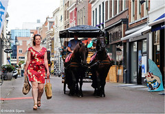 Guiding the Wagon (Hindrik S) Tags: guiding wagon cart horses woman vrouw frou lady candid street straat strjitte streetphotography straatfotografie dress jurk deventer sonyphotographing sony sonyalpha a57 57 slta57 tamron tamronspaf1750mmf28xrdiiildasphericalif 1750 tamron1750 city cityscape stad std 2016