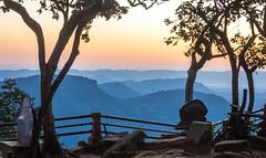 Morning sunrise at Phamor E-Daeng (prasit suaysang) Tags: sunrise phamoredaeng srisaket thailand landscape nature nationalpark khaophrawihan outdoor mountains rocks trees twilight morning mountainside colorful