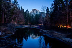 Yosemite Nights (Thomas Hawk) Tags: america california nationalpark usa unitedstates unitedstatesofamerica yosemite yosemitevalley bridge reflection river water fav10 fav25 fav50