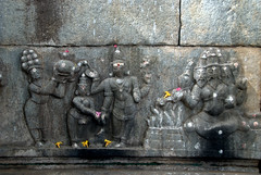 Depiction of the Girija Kalyana (marriage of Parvati to the god Shiva) (VinayakH) Tags: halasurusomeshwaratemple bangalore india ulsoor chola vijayanagaraempire kempegowda hindu shiva temple hinduism