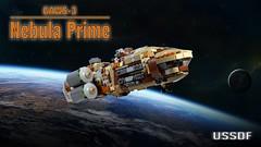 "GAWS-3 ""Nebula Prime"" (LegoLord82) Tags: lego micro spcae future galaxy galactic halo star trek wars explorer station"