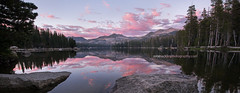Knee Deep,  Wrights Lake (Rob Macklin) Tags: robmacklinphotography nikond810 tamron1530lens oneshot croporama sierras lake sunset summer mountains water still quiet reflection pink clouds