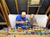 007 68 with FUN (GoodPlay2) Tags: 1968 1969 lego train layout track 45v blue railroad railway vintage 60s 70s 1960s 1970s old system classic retro set nostalgia rare early 1950s 1967
