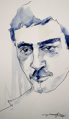 P1014945 (Gasheh) Tags: art painting drawing sketch portrait man line pen watercolor gasheh 2016