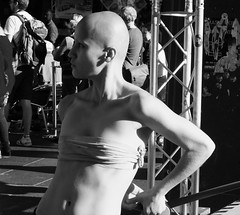 Fringe on the Mile 2016 0126 (byronv2) Tags: shadow shadows sun sunlight sunny sunshine summer stage theatre dancer dance dancing bald performer peoplewatching candid street royalmile oldtown edinburgh edinburghfestival edinburghfestivalfringe edinburghfringe edinburghfringe2016 edinburghfestivalfringe2016 fringe2016 fringe edimbourg scotland blackandwhite blackwhite bw monochrome woman girl man sexy boobs breasts nipples pokies downblouse shaved