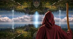 the connection - mirror worlds (Ralph Oechsle) Tags: fantasy mystic epic connection resurrection divine dreisessel dreisesselberg bavaria bayern magic mage ascention rebirth twoworlds dimension